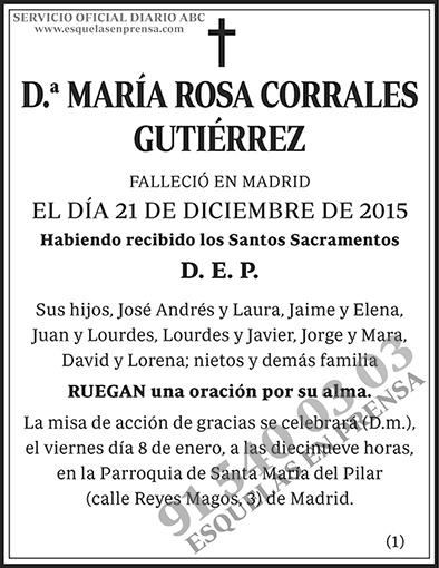 María Rosa Corrales Gutiérrez